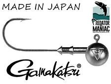 Gamakatsu 2/0 - 10g (3/8 oz) Round jig heads. pack of 3. Made in Japan