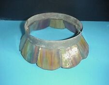 Antique Slag Glass Lamp Shade Multi Colored Small Size