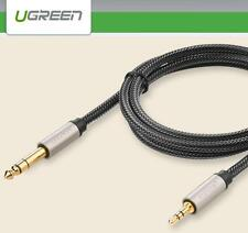 """UGREEN 3.5mm Male to 6.35mm 1/4"""" TRS Stereo Audio Headphone Adapter Cable - 3M"""