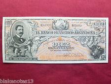 Bolivia Lot P-S143 1893 10 Bolivianos Specimen El Banco Francisco Argandona Unc