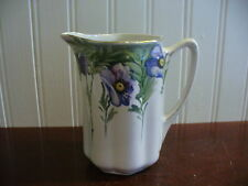 Small Vintage Hand Painted Porcelain Royal Nippon Nishiki Floral Motif Pitcher