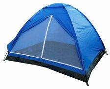 Yellowstone 2 Person Dome Tent with Carry Bag & Fittings Included Blue Camping