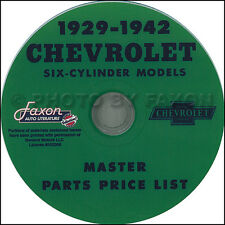 Chevy Parts Catalog CD 1929 1930 1931 1932 1933 1934 1935 Chevrolet Car Truck