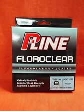 P-LINE Floroclear Fluorocarbon Coated Fishing Line 8lb (300yd) #FCCF-8 Clear