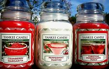 SET OF 3 Yankee Candles PEPPERMINT MARTINI POMEGRANATE PUNCH CRANBERRY MARGARITA