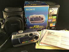 Sony Cyber-Shot DSC-P20 Digital Still Camera 1.3 MP w/ Box, 32MB Memory & Case