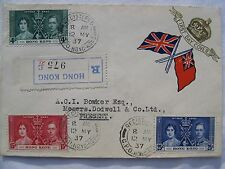 Hong Kong Registered First Day Cover 1937