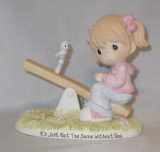 Girl Teeter Totter Precious Moments It's Just Not The Same Without You NWOB Bird