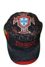 PORTUGAL BLACK FPF LOGO FIFA WORLD CUP ACID WASHED WEAR-LOOK MILITARY HAT