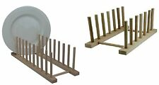 2 x Wooden Dish Drainer Storage Rack Drying Draining Dinner Plates Stand Holder