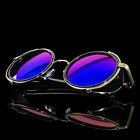 Vintage Retro Mirror Round SUN Glasses Goggles Steampunk Punk Sunglasses