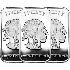 American Buffalo Bar by SilverTowne 1oz .999 Silver Bar- 3pc