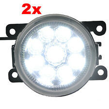 2X LED White 12V 6W Pilot Driving Fog Light Lamp Assy Bulb Suzuki Ford Citroen