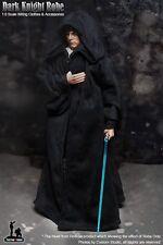 "1/6 Black Clock Clothing Set Dark Knight Robe Wizard Toy Model For 12"" Figure"