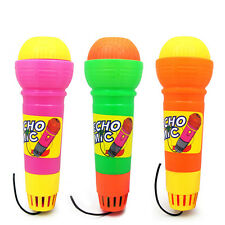 "7"" Plastic Echo Sound Microphone Mic Built-in Music Voice Kids Pretend Play Toy"