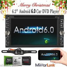 Android 6.0 Double Din Car Stereo Radio GPS Wifi 3G OBD HD Mirror Link BT CD DVD