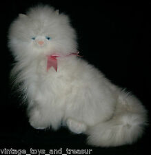 "12"" VINTAGE RUSS BERRIE MONIQUE WHITE KITTY CAT STUFFED ANIMAL PLUSH TOY KITTEN"