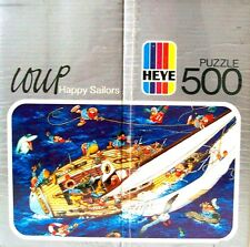 NEW Vintage Puzzle Loup HEYE  HAPPY SAILORS 500 Piece Puzzle Sealed Rare 1981