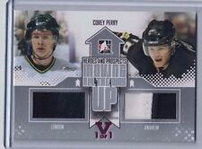 FINAL VAULT ITG HEROES AND PROSPECTS DUAL JERSEYS SILVER #MAU06 COREY PERRY #1/1