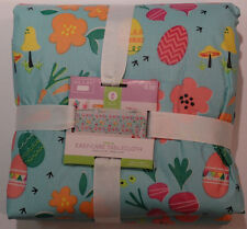 """New! Decor by Target Oblong Easy Care Easter Egg PEVA Tablecloth Blue 60"""" X 84"""""""