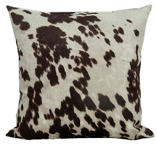 Premium Brown Cow Hide pillow 20x20 Cabin Lodge