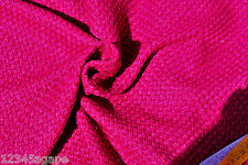 D254 LUXURIUOUS FUSHIA PURPLE COLOUR LAMBSWOOL & COTTON SOFT CHUNKY BASKET WEAVE