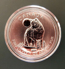 2011 CANADA Timber Wolf 1 oz 9999 pure silver coin - in air-tite