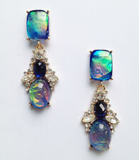 ANTHROPOLOGIE BEAUTIFUL OPAL BLUE GREEN DROP EARRINGS - NEW
