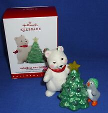 Hallmark Ornament Snowball and Tuxedo 15th Anniversary 2015 Bear Penguin Repaint