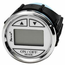 FARIA DS0110 NEWPORT SILVER / WHITE BOAT DEPTH FINDER / SOUNDER GAUGE