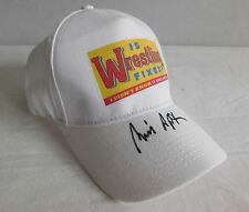 Bill Apter Pro Wrestling Hat Autographed NEW Illustrated WWE TNA NWA Book