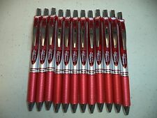 12 RED Pentel EnerGel Deluxe RTX 0.7mm Rollerball Gel Ink Pens Liquid X1071 NIB