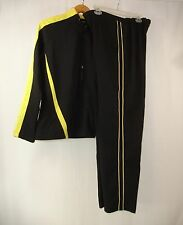 BOLLE SPORT Women's Athletic Wear Black Yellow Track Sweat Suit L Train Run