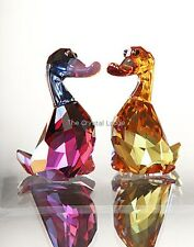 SWAROVSKI CRYSTAL LOVLOTS LILY AND LUKE DUCKS CITY PARK MIB RETIRED