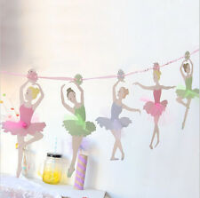 3.5m Ballet Girls Banners Kids Birthday Event Supplies Baby Shower Hanging Decor