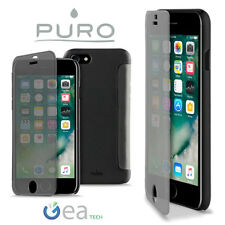PURO Custodia Sense Cover Per Apple iPhone 7 PLUS Flip S View Ultra Slim Nera