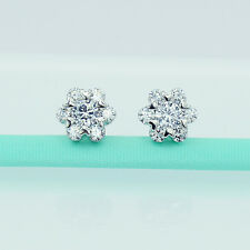 6Grape 925 Sterling Silver Diamond Women Earrings Earring Flower Heart