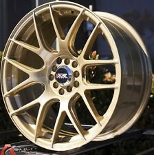 18X7.5 XXR Wheels 5x100/114.3 +38 Gold Rims Fits Tiburon Mazda Speed3 Corolla