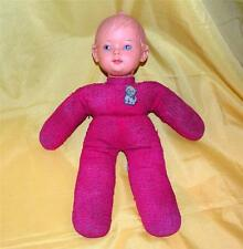 RARE VTG 1950'S WEST GERMANY HUMMEL FULL BEE CLOTH BABY DOLL  W TAG, RUBBER HEAD
