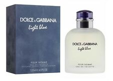 D&G Light Blue Dolce Gabbana Men 4.2 OZ 125 ML Eau De Toilette Spray Nib Sealed