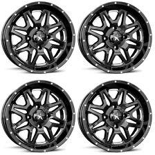 4 ATV/UTV Wheels Set 16in MSA M26 Vibe Black 4/156 0mm 1KXP