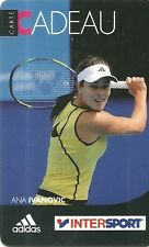RARE / CARTE CADEAU : ANA IVANOVIC - TENNIS / INTERSPORT / ADIDAS - CARD