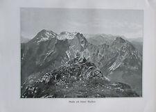 1900 GROßER UND KLEINER BUCHSTEIN Ennstaler Alpen alter Druck old print