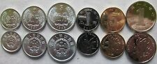 China set of 6 coins 1987-2013 (1+2+5 Fen+1+5 Jiao+1 Yuan) UNC