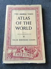 Times Atlas Of The World. Vol.3 Northern Europe. 1955
