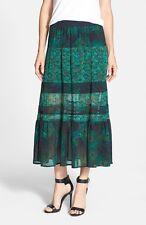 MICHAEL KORS $130 NEW WOMENS Multi Animal Print Peacock Full Skirt Regular XL