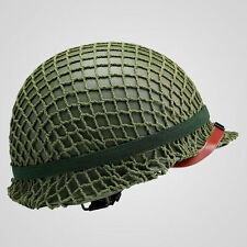 WWII US Army Paratrooper M1 Helmet Cover Cotton Camouflage Helmet Net