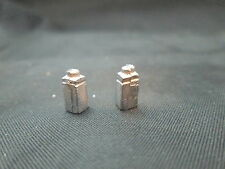 2 Dollhouse Miniature Unfinished Metal 1/2 Scale Baby Powder Can