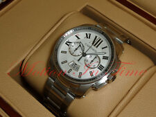 Cartier Calibre Chronograph Stainless Steel 42mm Stainless Steel Brclt  W7100045