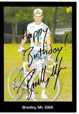 CYCLISME  carte cycliste BRADLEY Mc GEE équipe LA FRANCAISE DES JEUX  signée